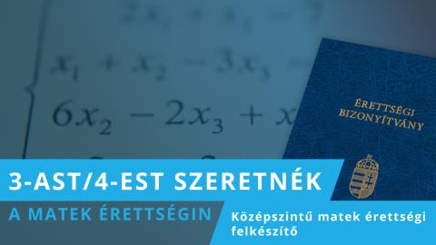 4-est, 5-öst szeretnék a matek érettségin!